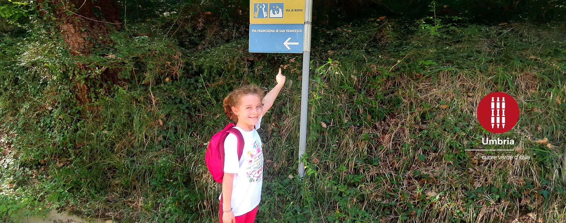 Road signs along the St Francis' Way to Assisi are easy to follow