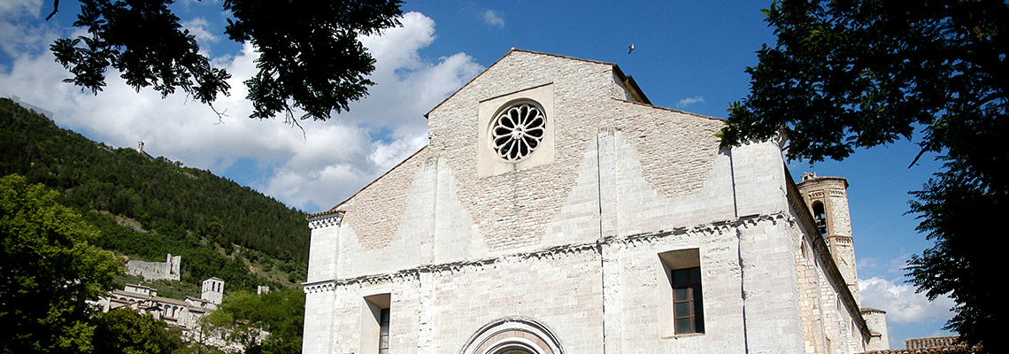 gubbio church of San Francesco pilgrims northern route the St Francis way S6