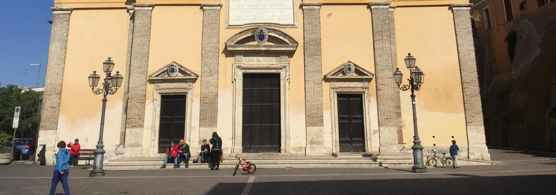 monterotondo Church francis way by bike way to rome
