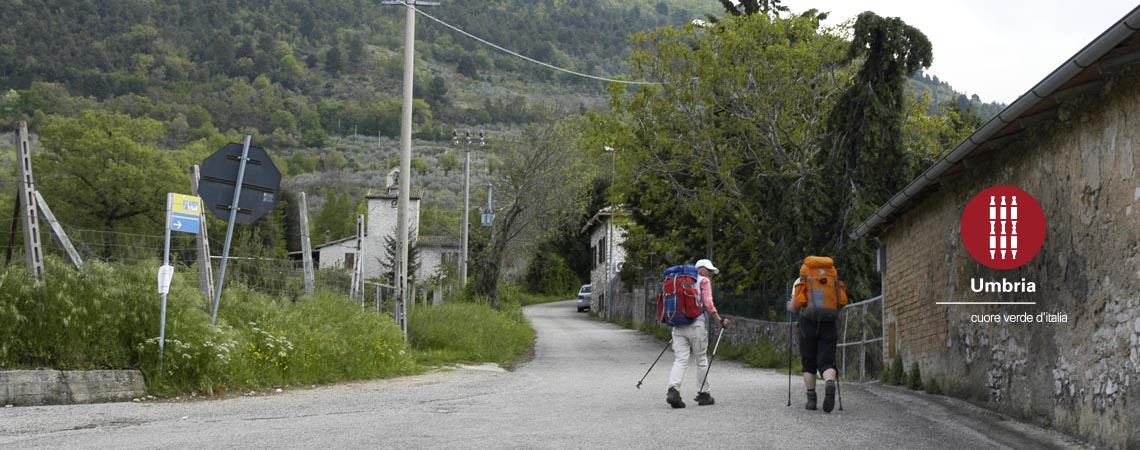 path of pilgrimage on foot on track of francesco