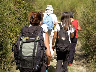 m walk together travel on foot track of francesco
