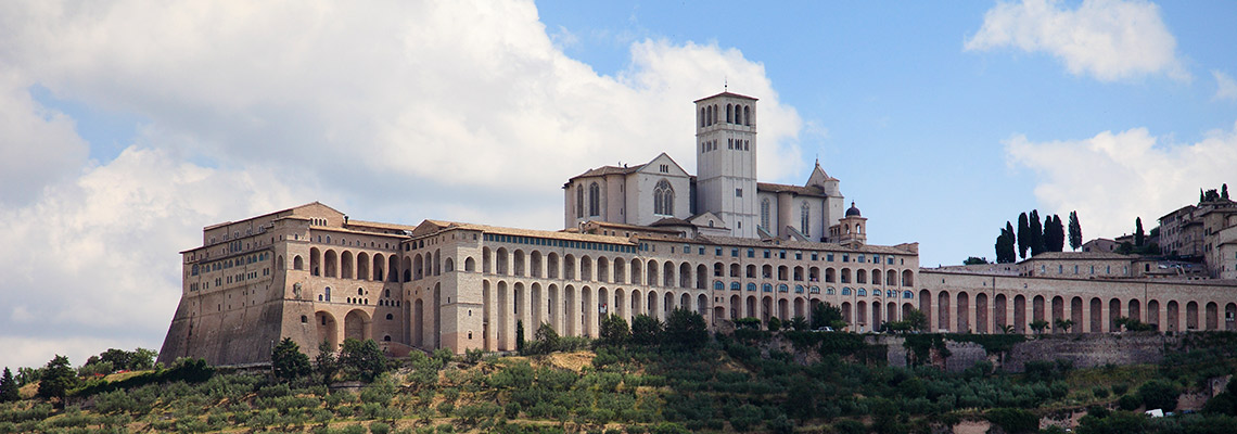 assisi basilica of saint francis pilgrims southern way on foot