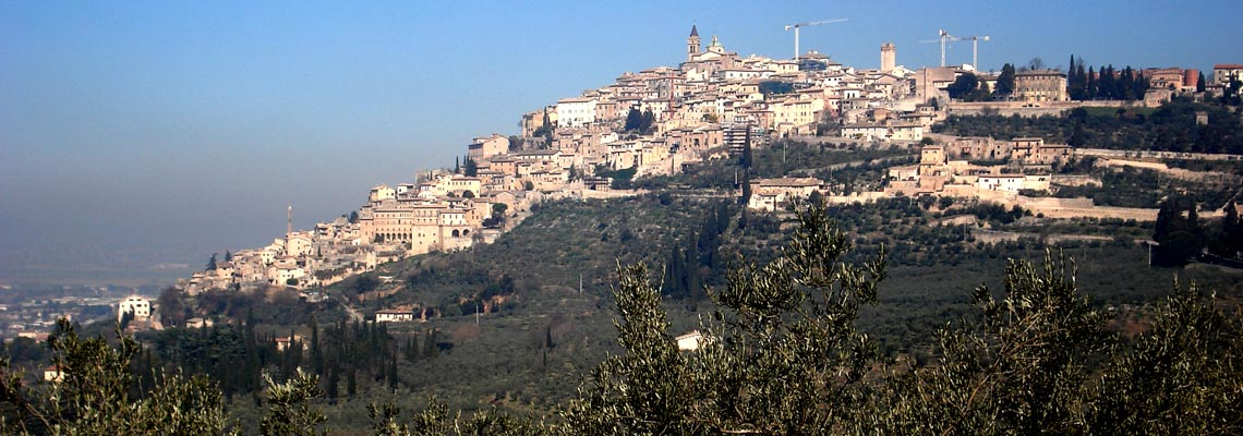 Panoramic route by bike to trevi on the Francis of Assisi way