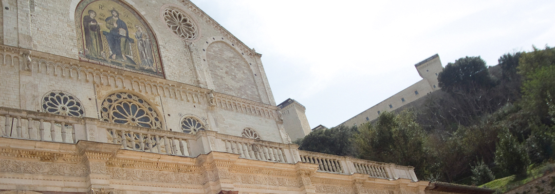 Spoleto pilgrimage of Francesco southern way walking