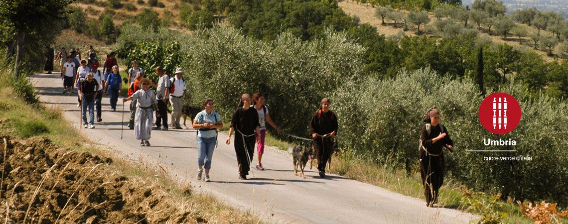 pilgrims on track of Francesco pilgrimage