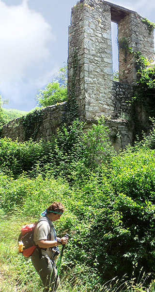 The remains of St. Benedict's Abbey in Fundis. The Franciscan Protomartyrs' Way Umbria Italy